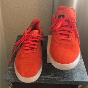 Adidas Men Orange & Black Suede Sneakers